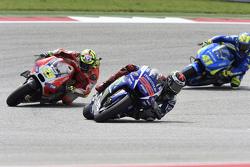 Jorge Lorenzo, Yamaha Factory Racing; Andrea Iannone, Ducati Team, und Aleix Espargaro, Team Suzuki MotoGP