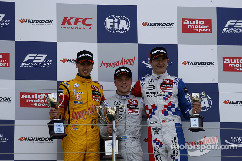 Podium: second place Antonio Giovinazzi, Jagonya Ayam with Carlin and first place Felix Rosenqvist,