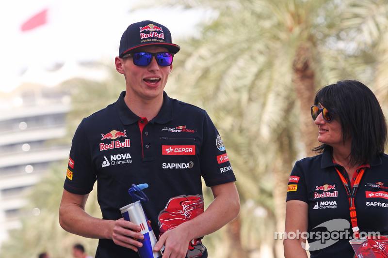Max Verstappen, Scuderia Toro Rosso, mit Fabiana Valenti, Scuderia Toro Rosso, Pressevertreter