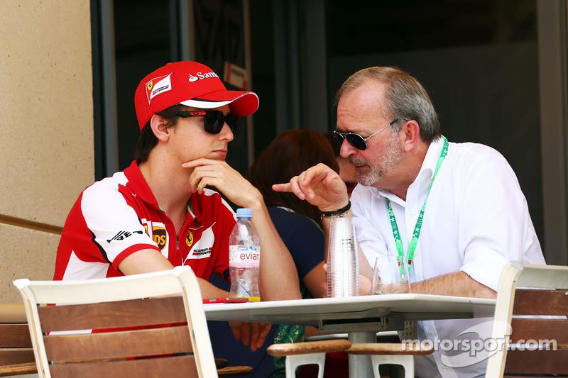 Esteban Gutierrez, Test- und Ersatzfahrer bei Ferrari, mit Didier Coton, Fahrermanager
