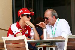 Esteban Gutierrez Ferrari Test and Reserve Driver with Didier Coton Driver Manager.
