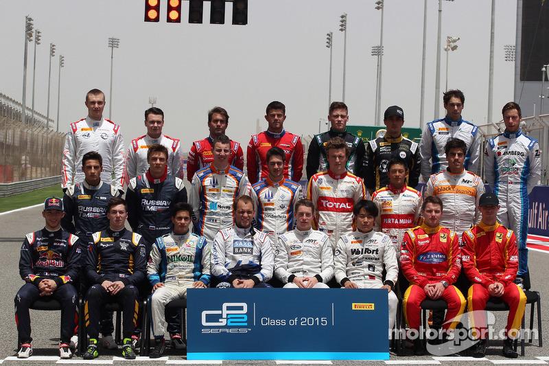 Photo de groupe des pilotes 2015