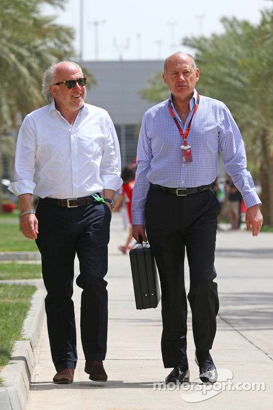 David Richards, CEO Prodrive dengan Ron Dennis, McLaren Executive Chairman
