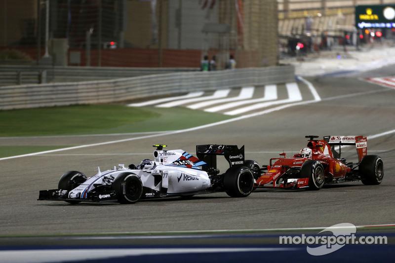 Valtteri Bottas, Williams F1 Team e Sebastian Vettel, Scuderia Ferrari