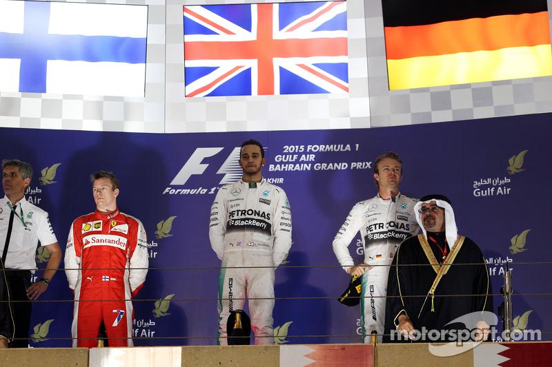 2015 - 1. Lewis Hamilton 2. Kimi Räikkönen 3. Nico Rosberg