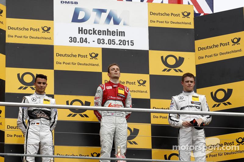 Podium, 2nd Pascal Wehrlein, HWA AG Mercedes-AMG C63 DTM, 1st Jamie Green, Audi Sport Team Rosberg A