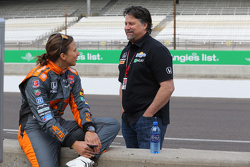 Simona de Silvestro and Michael Andretti