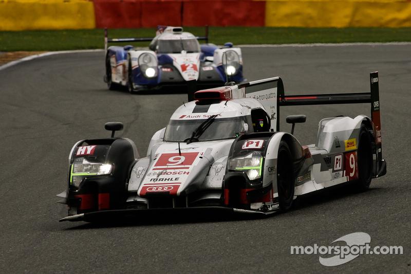 #9 Audi Sport Team Joest, Audi R18 e-tron quattro Hybrid: Filipe Albuquerque, Marco Bonanomi, René Rast