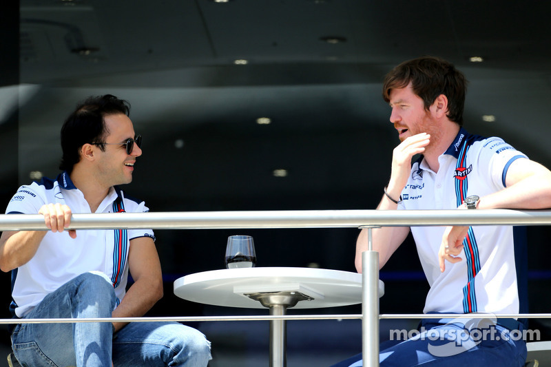 Felipe Massa, Williams F1 Team, und Rob Smedley, Chefingenieur Williams F1 Team