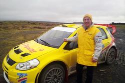Гвиндаф Эванс. Тесты Suzuki SX4 WRC. Уэльс, 2010 год.