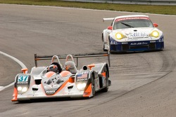 #37 Intersport Racing Lola B05/40 AER: Clint Field, Jon Field, Liz Halliday;#23 Alex Job Racing Porsche 911 GT3 RSR: Mike Rockenfeller, Marcel Tiemann