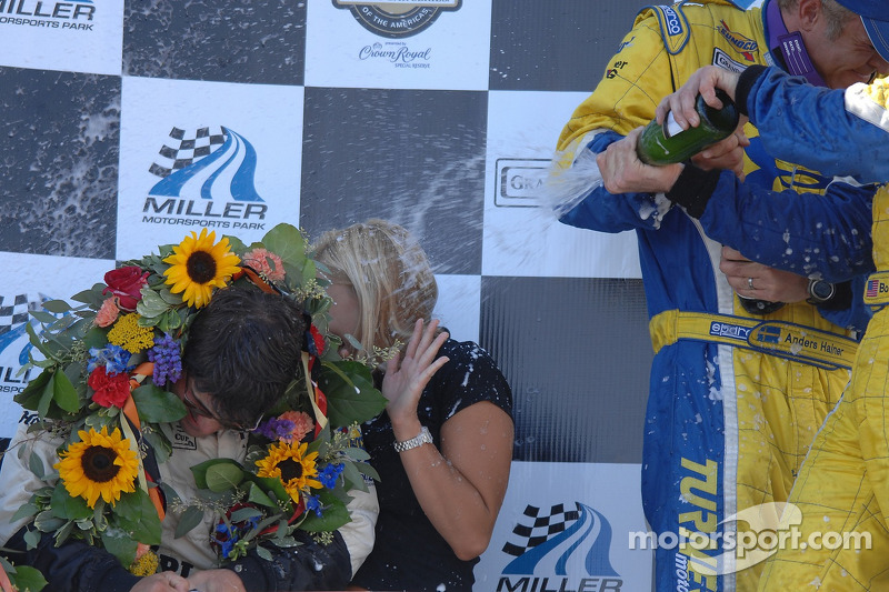 Célébration sur le podium