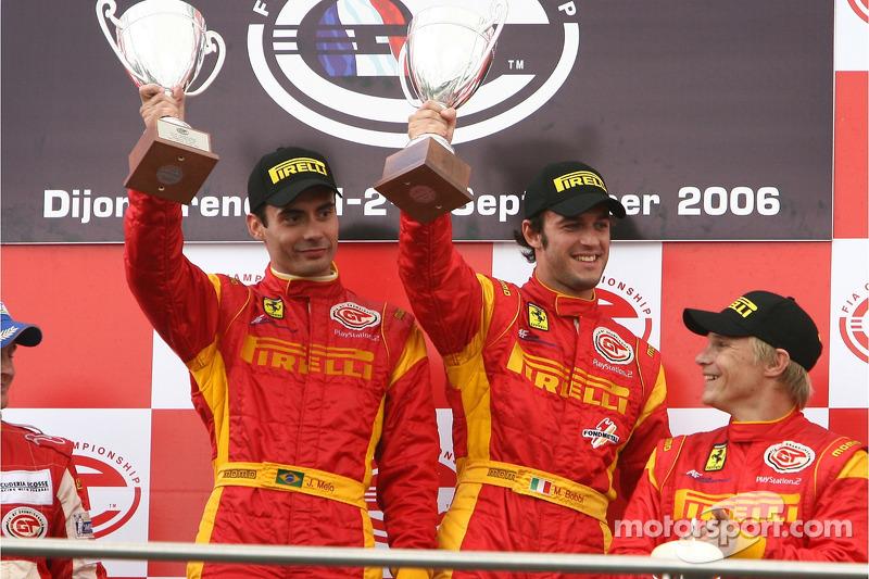 GT2 podium: class winners Matteo Bobbi and Jaime Melo