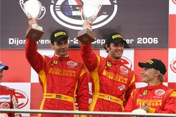 GT2 podium: class winners Matteo Bobbi and Jaime Melo