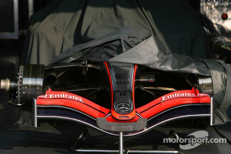 McLaren Mercedes MP4-21 front wing