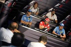 FIA press conference: Giancarlo Fisichella, Jarno Trulli, Felipe Massa, Vitantonio Liuzzi and Heikki Kovalainen