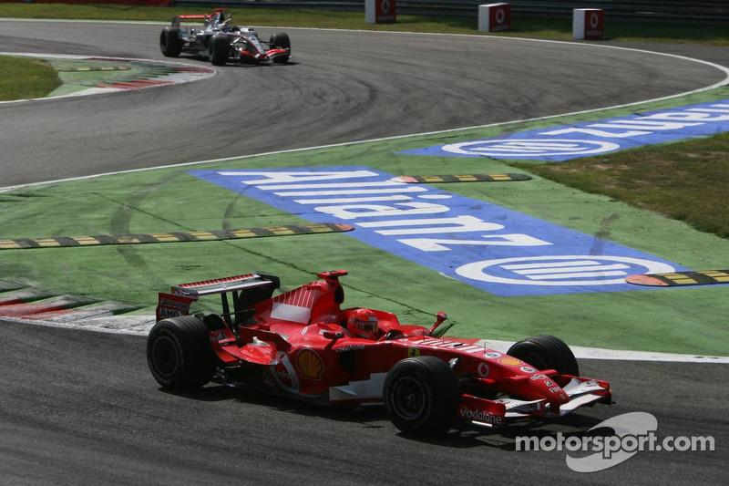 Michael Schumacher y Kimi Raikkonen