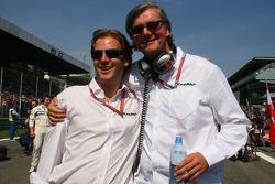 Michiel Mol, futur directeur de Formula One Racing, Spyker et Spyker MF1 Racing et Victor R. Muller, Chief Executive Officer de Spyker Cars N.V. et Spyker MF1 Racing