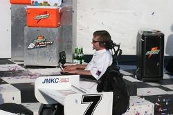 Winning car owner Sam Schmidt watches the Championship Celebration