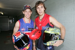 Casey Stoner and Chris Vermeulen back home in Australia