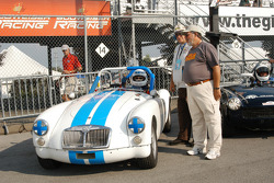 David Smith and crew members with his 1962 MGA MkII