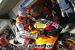 Nicky Hayden and Peter Benson