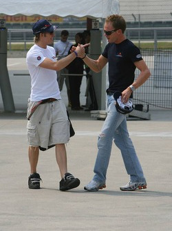 Scott Speed and Robert Doornbos