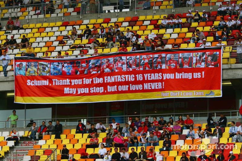 Bandera de los fanáticos de Michael Schumacher