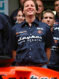 Spyker MF1 Racing photoshoot: Michiel Mol, future Director of Formula One Racing