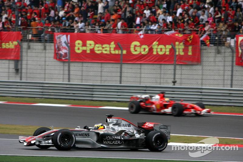 Pedro de la Rosa y Felipe Massa