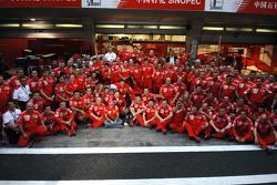 Il vincitore della gara Michael Schumacher