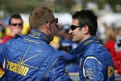Pole winner Nicolas Minassian discusses with a Creation Autosportif team member