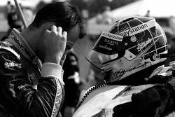 Stéphane Sarrazin checks his radio