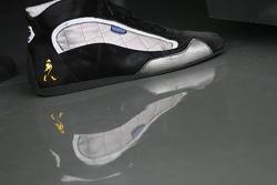 A racing shoe of Pedro de la Rosa