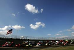 Dale Earnhardt Jr. and Jeff Gordon lead the field