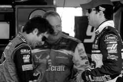 Jeff Gordon, Ken Schrader and Jimmie Johnson