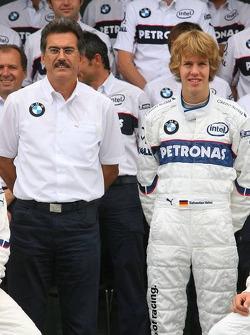 BMW Sauber F1 Team photo: Dr. Mario Theissen and Sebastian Vettel