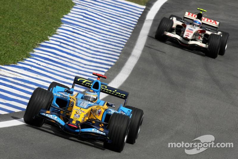 Fernando Alonso et Anthony Davidson