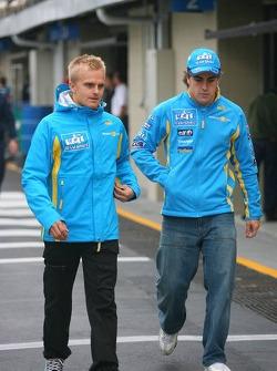 Heikki Kovalainen and Fernando Alonso