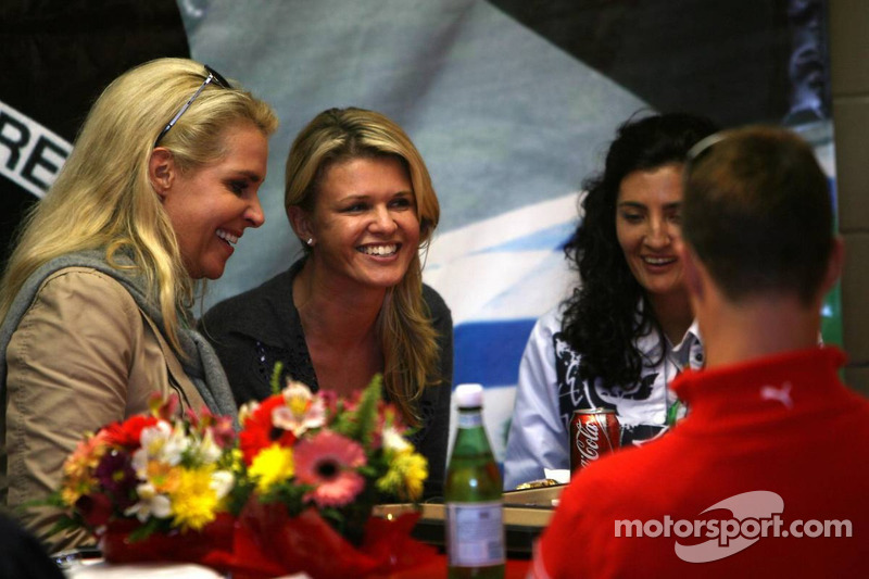 Michael Schumacher plays backgammon with wife Corina