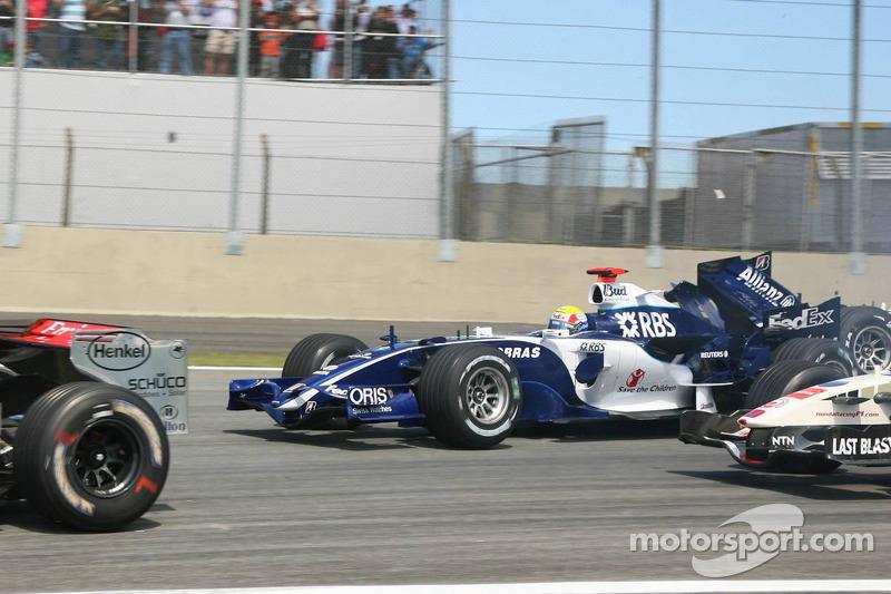 Mark Webber et Nico Rosberg victimes d'un accident