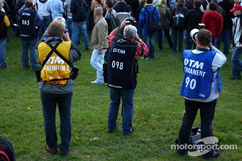Photographes de DTM en action