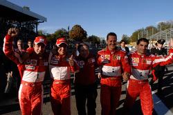 Luca Badoer, Felipe Massa, Jean Todt, Michael Schumacher and Marc Gene