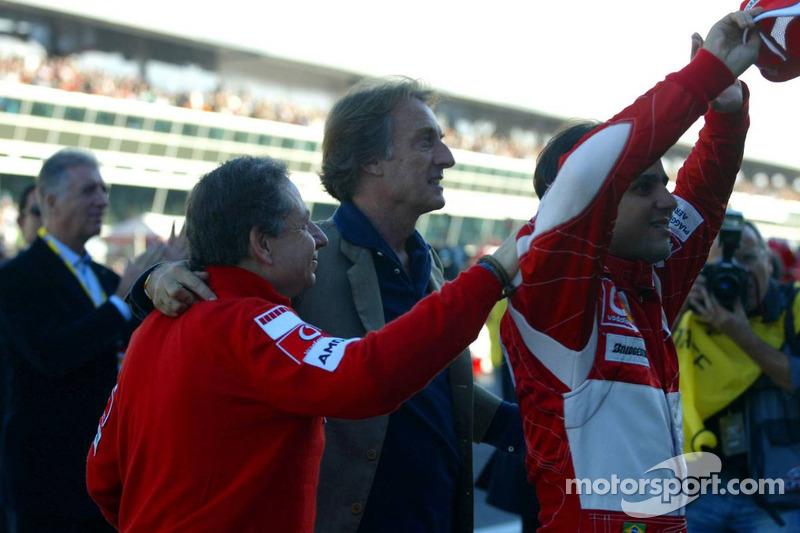 Jean Todt, Luca di Montezemolo et Felipe Massa
