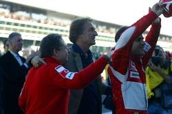 Jean Todt, Luca di Montezemolo and Felipe Massa