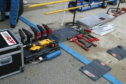 Repair tools line up ready for use