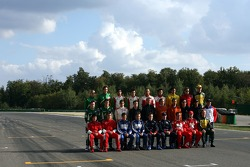 Group picture of the A1GP drivers