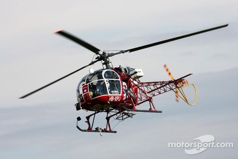 Un hélicoptère pour la télévision