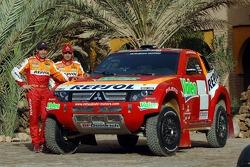 Team Repsol Mitsubishi Ralliart presentation in Morocco: Nani Roma and Lucas Cruz Senra