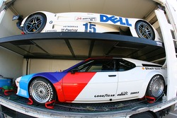 Historic BMW M1 car and Le Mans car